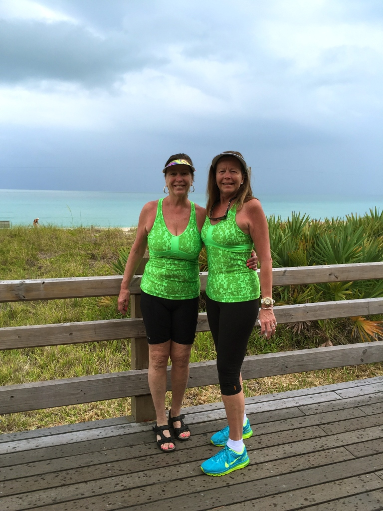 Sisters in green